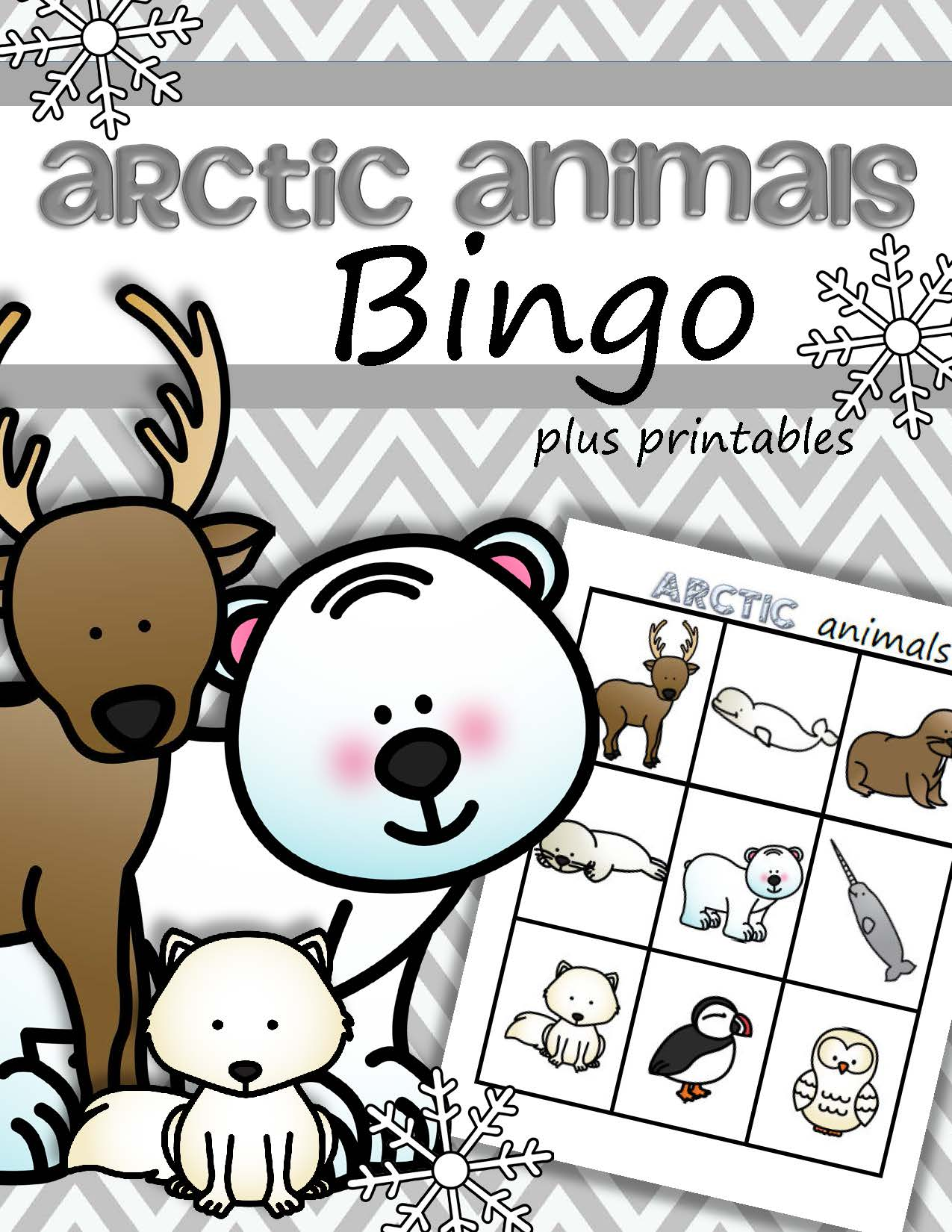Arctic Animals Bingo Game