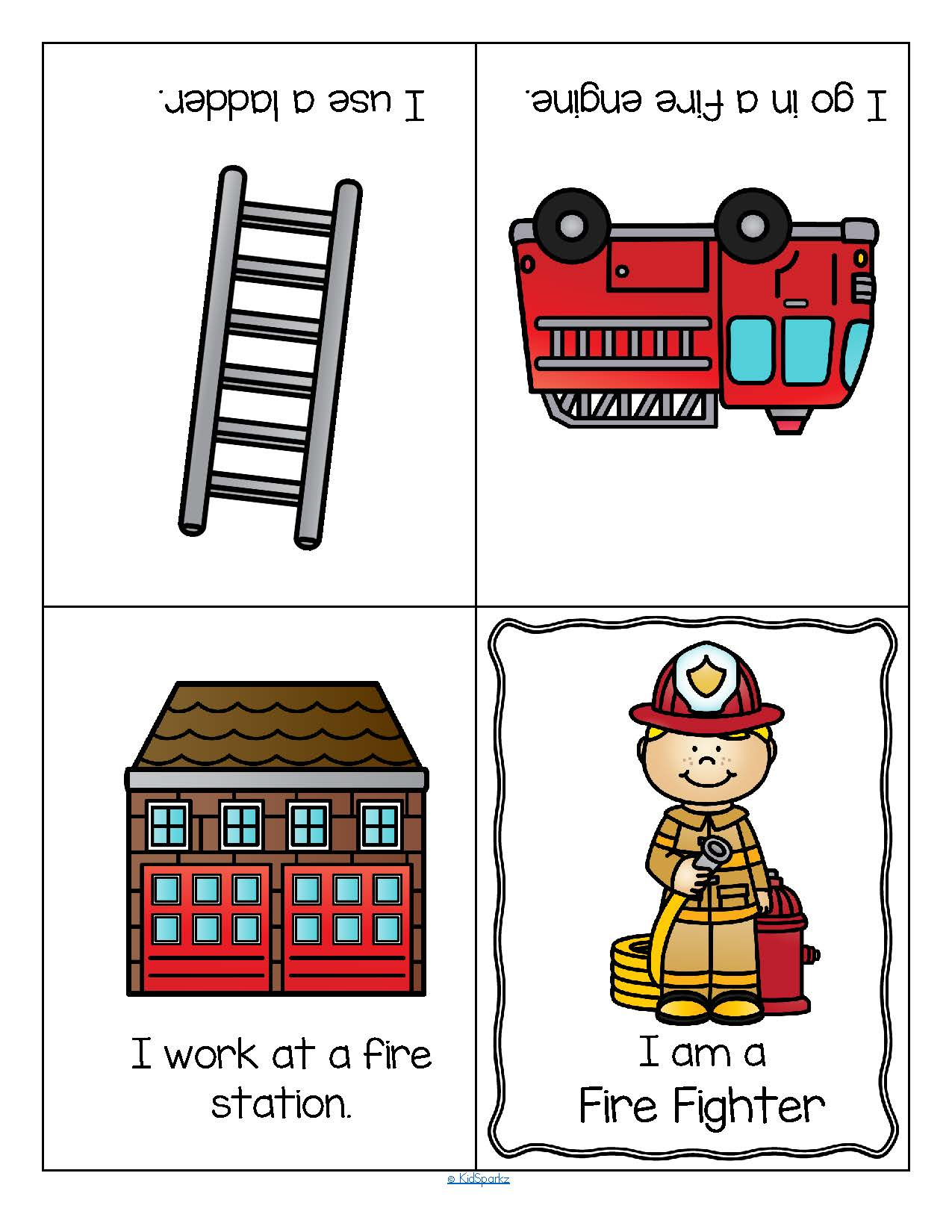 Community Helpers Foldable Booklets For Preschool And Kindergarten