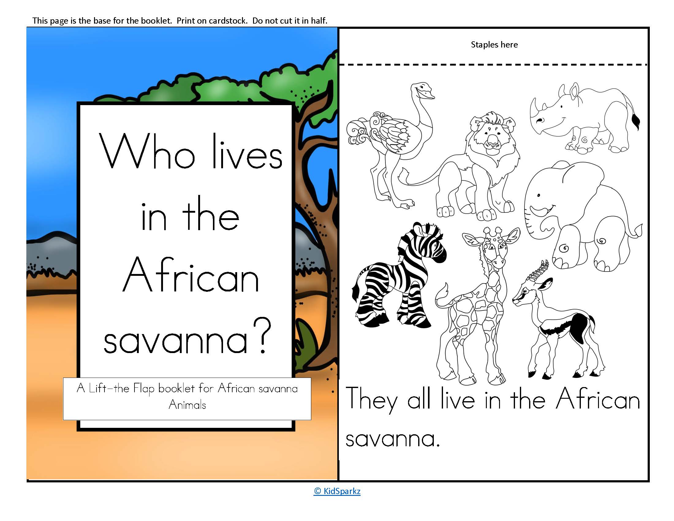 African Animals Lift The Flap Predictable Booklet