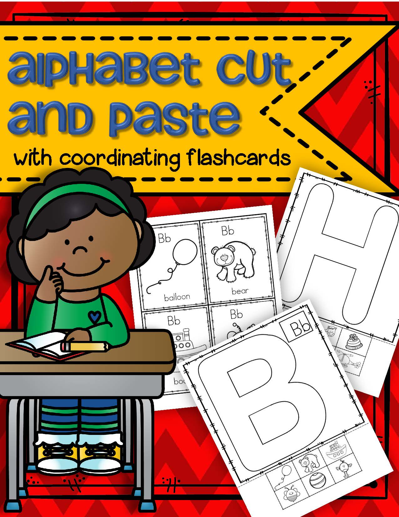 Alphabet Cut And Paste Activities With Flashcards
