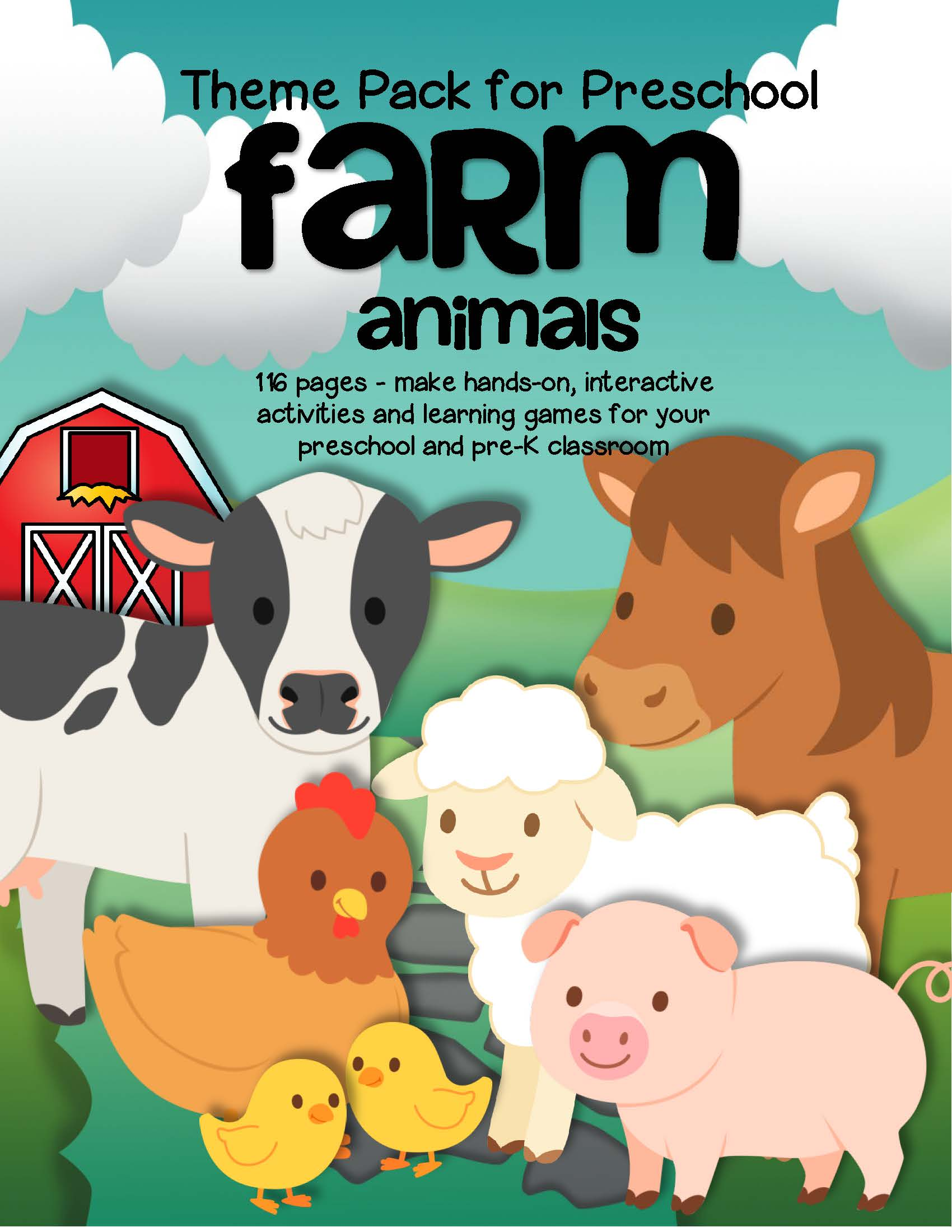 Farm Animals Activities And Centers For Preschool