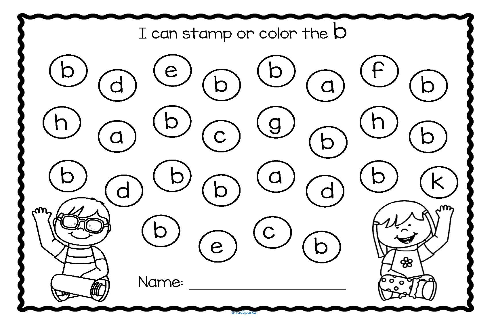 Letter Recognition A Z Lower Case Printables