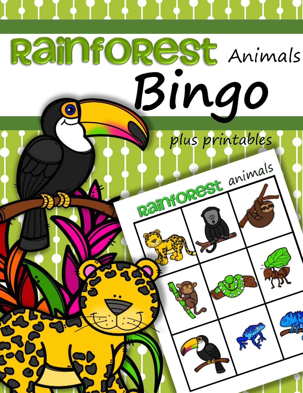 Rainforest Animals Bingo