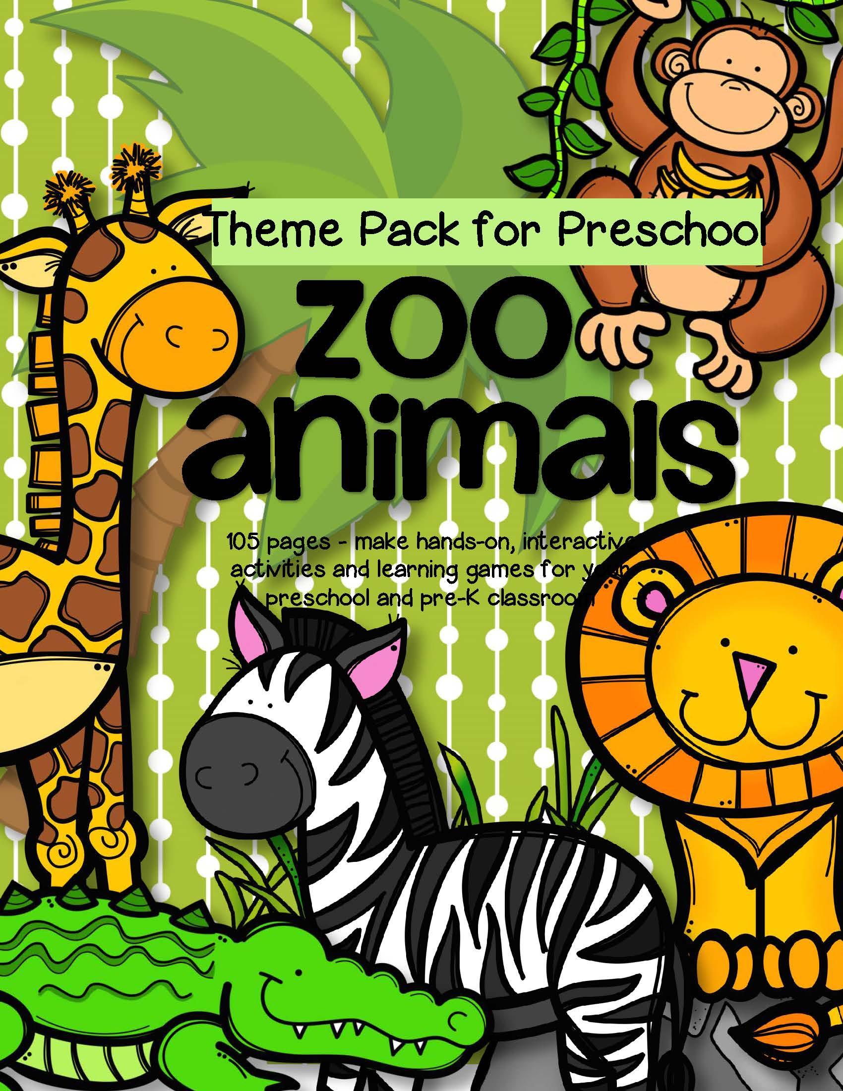 Zoo Animals Theme Pack For Preschool