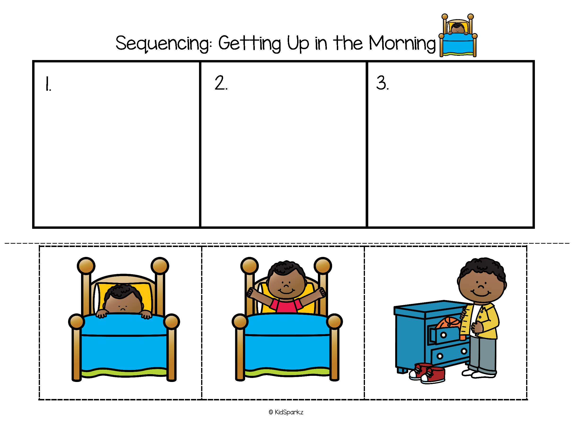 50 Sequencing Centers And Supporting Cut And Paste Printables