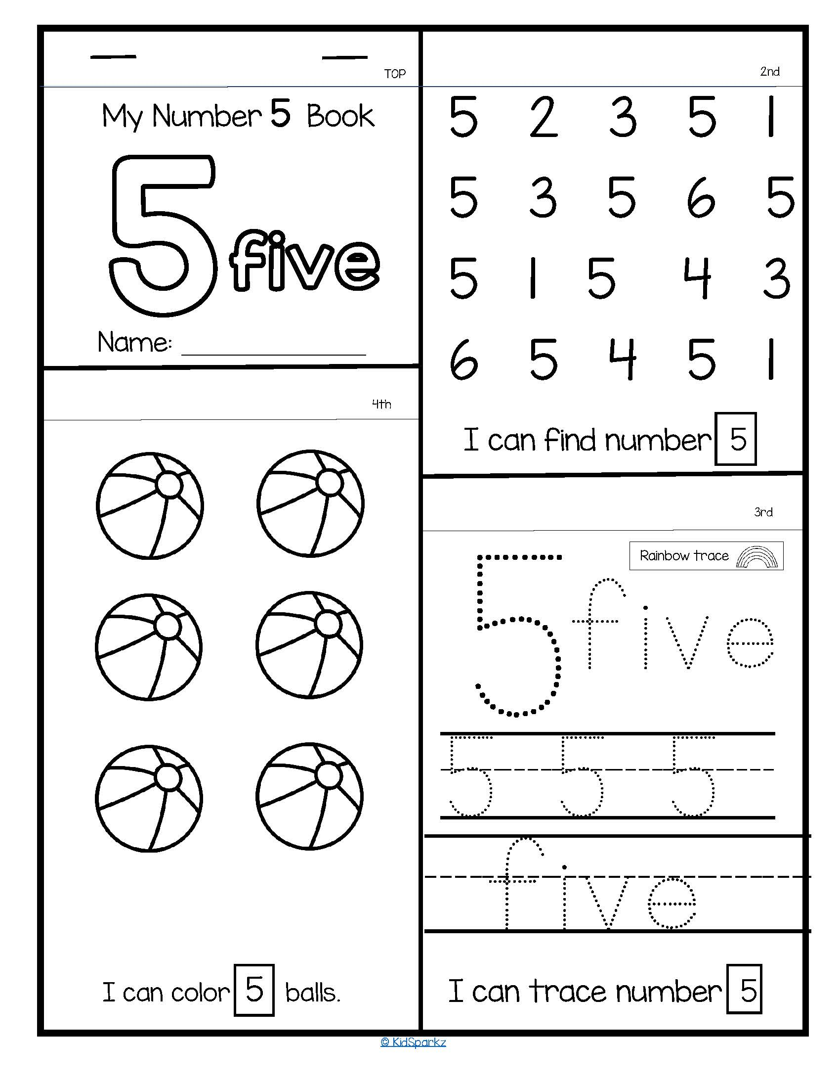20 Numbers Flip Flap Books
