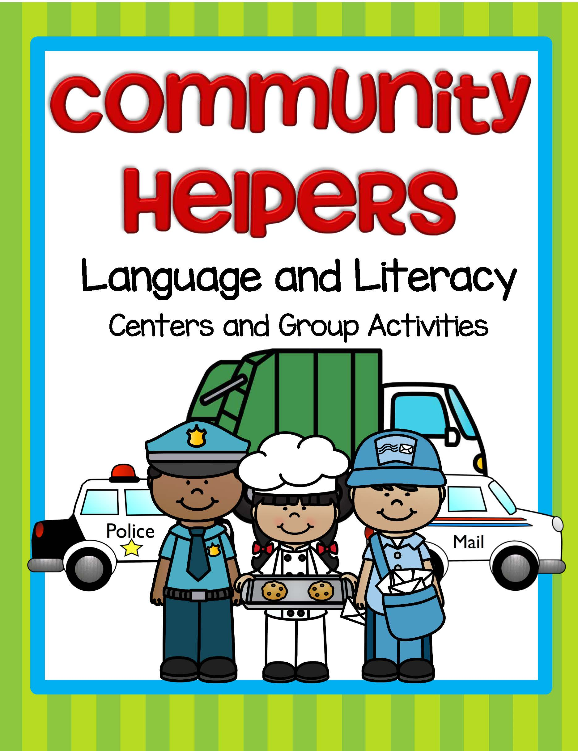 Community Helpers Language And Literacy Centers And Activities