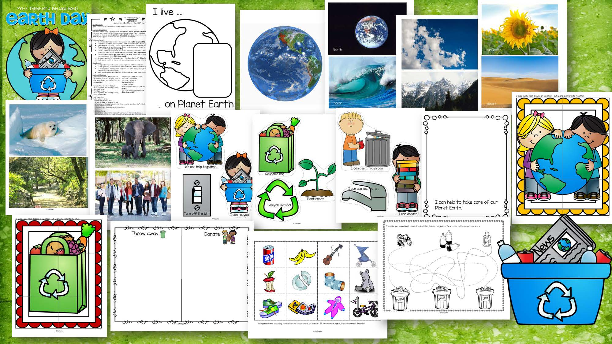 Earth Day Math Science Amp Literacy Centers And Activities For Preschool Amp Pre K