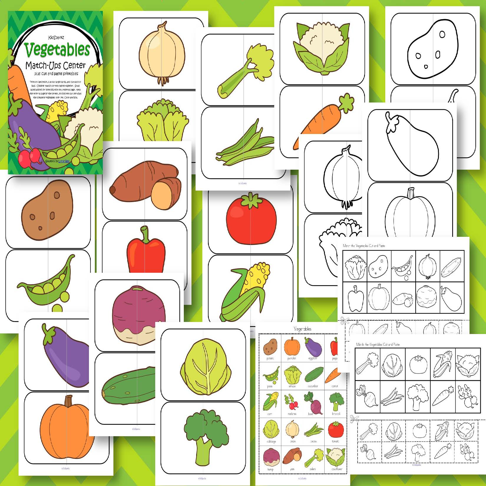 Vegetables Large Puzzles For Preschool