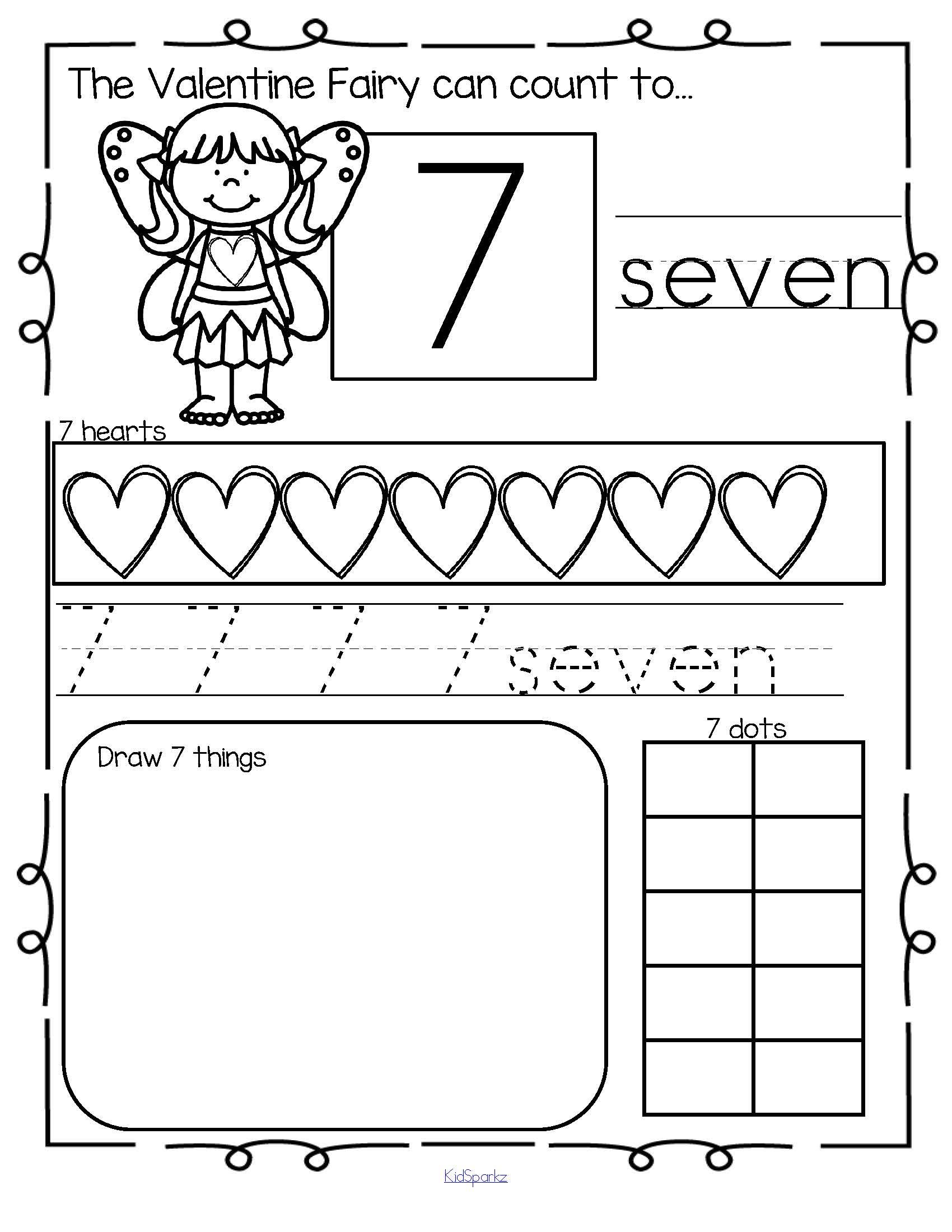 Number Practice Printables