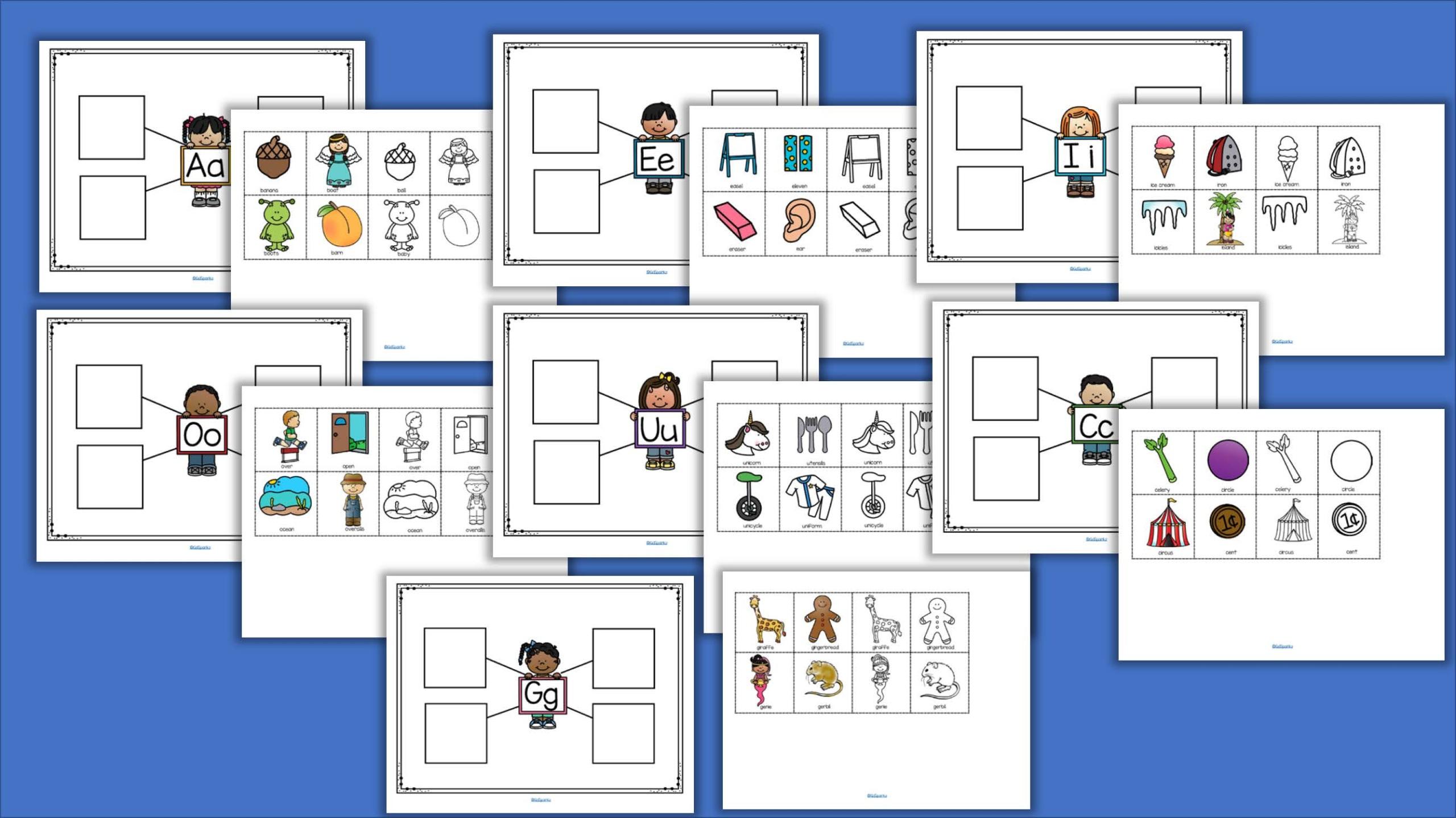 Alphabet Web Graphic Organizers Cut And Paste