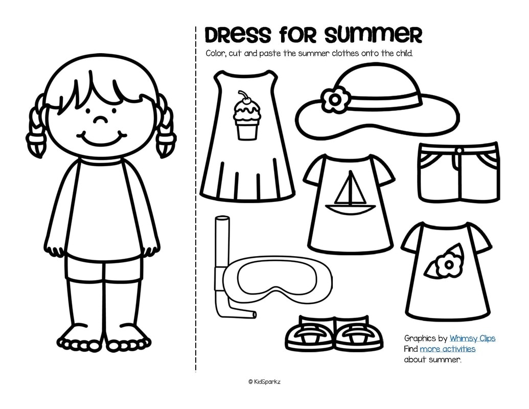 Summer Theme Activities And Printables For Preschool Pre