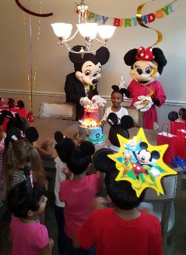 Mouse Costumed Characters For Preschool Mascot Birthday Parties