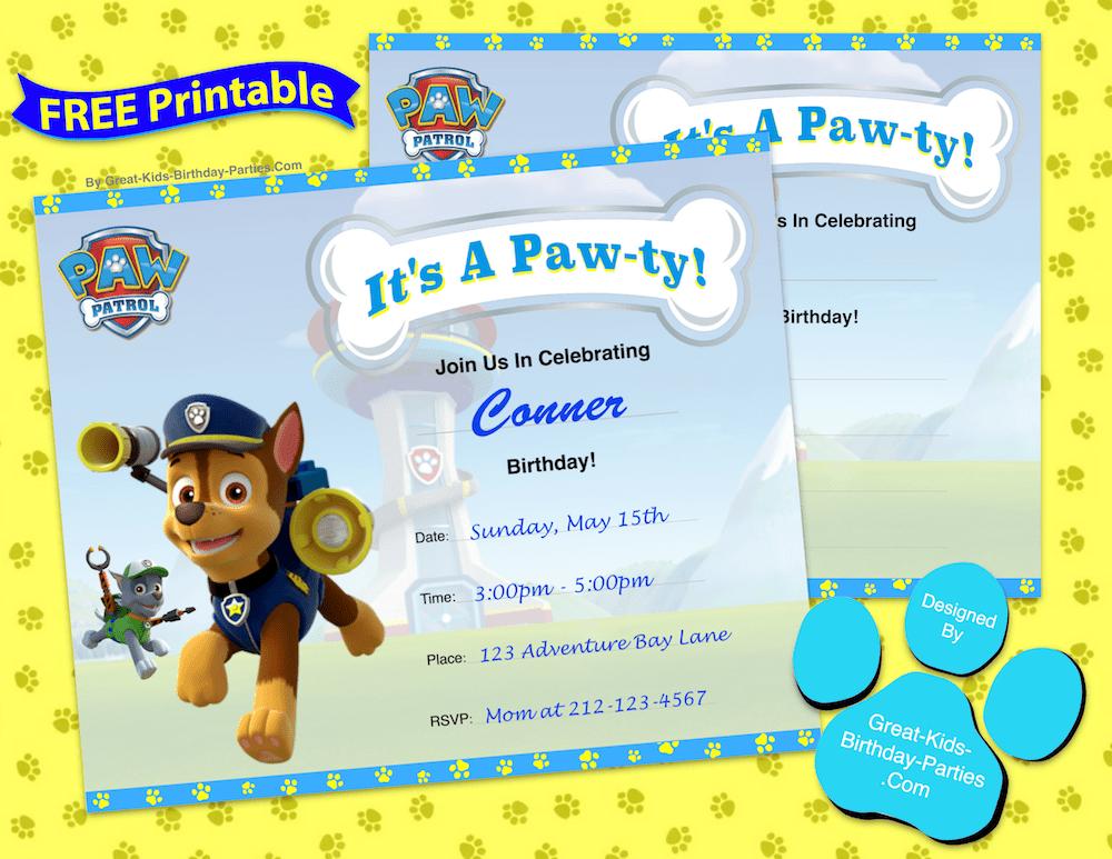 paw patrol birthday