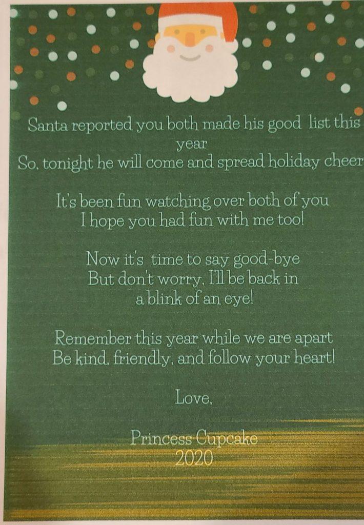 good-bye letter from elf