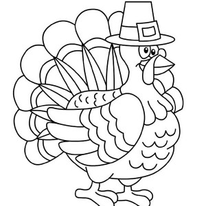 the turkey says happy thanksgiving day coloring page thanksgiving