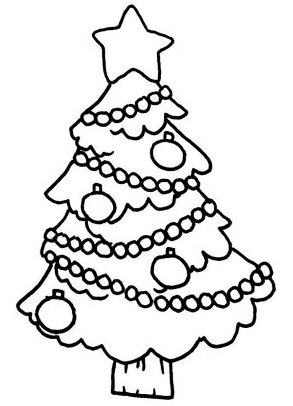 christmas tree hanging decoration coloring page kids play color