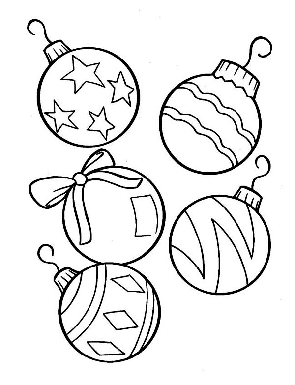 lovely christmas ball ornaments for christmas tree coloring page