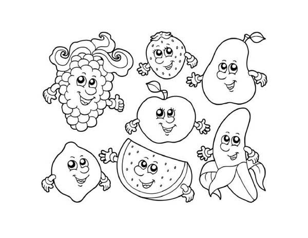 fruits and vegetables seven cute fruits in friendship page
