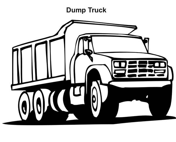 ford dump truck coloring page kids play color