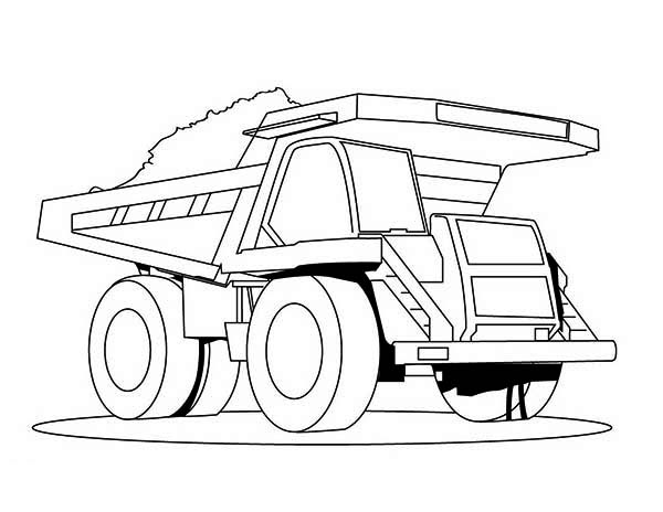 super dump truck carrying tons of coal coloring page kids play color