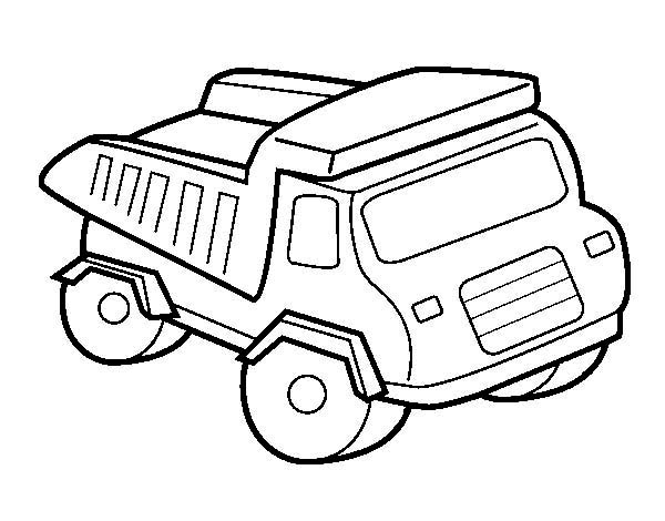 toy of a dump truck coloring page kids play color