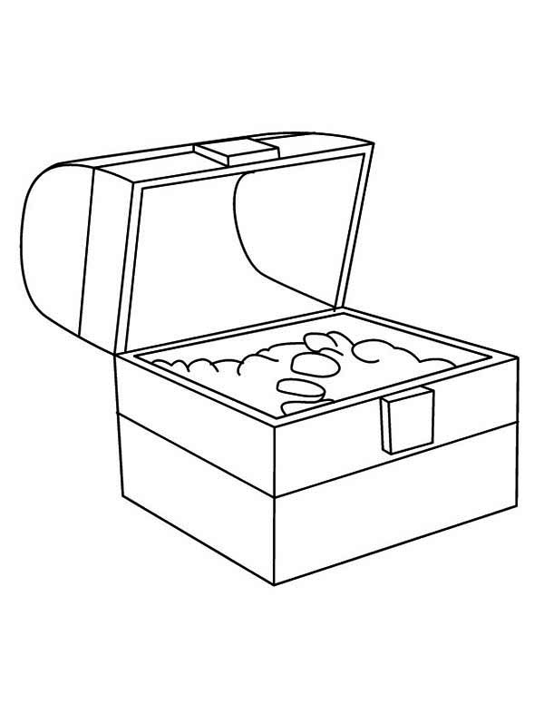 treasure chest a simple drawing of treasure chest page