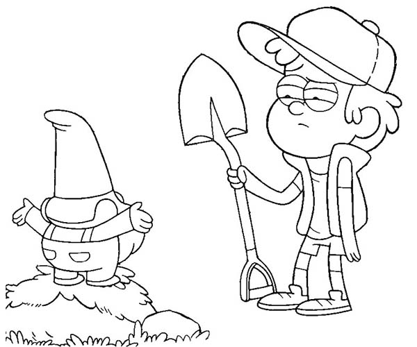gravity falls dipper coloring pages