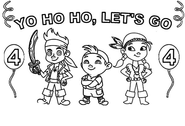 jake and the neverland pirates singing yo ho ho lets go coloring