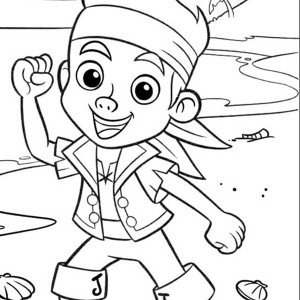 jake and the neverland pirates protecting the neverland coloring