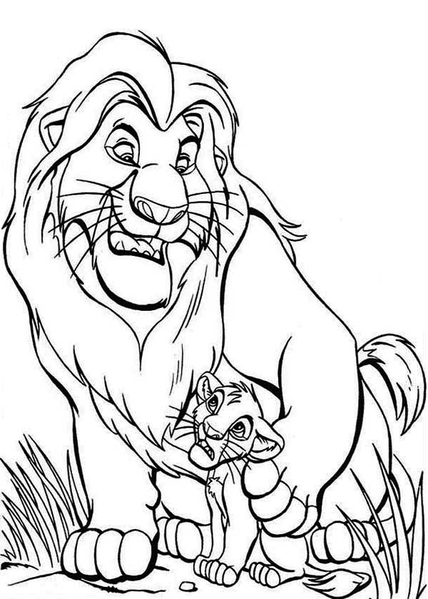 lion color page free coloring pages of mufasa and simba free