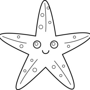 big starfish coloring page kids play color