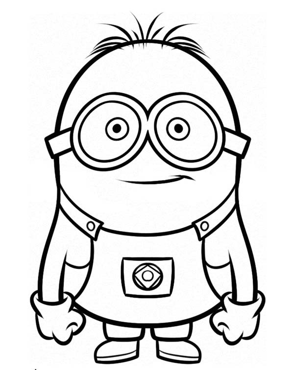 stuart is ready for adventure the minion coloring page kids play