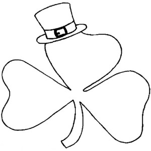 a shamrock wearing hat on st patricks day coloring page a