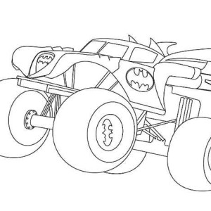 Cool Printable Truck Coloring Pages Grave Digger Free For Adults ... | 300x300