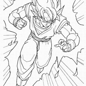 goku super saiyan 3 form in dragon ball z coloring page goku