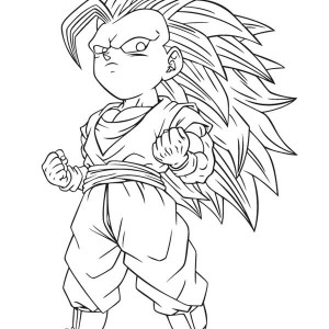 krillin and gohan waiting for cell in dragon ball z coloring page