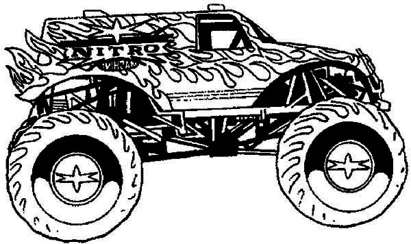 hot wheel monster truck coloring page kids play color