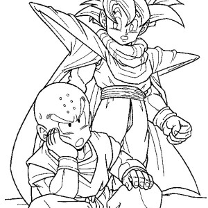 awesome dragon ball z coloring page awesome dragon ball z