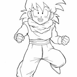 little gohan in dragon ball z coloring page kids play color