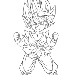 trunks and son gohan in dragon ball z coloring page kids play color