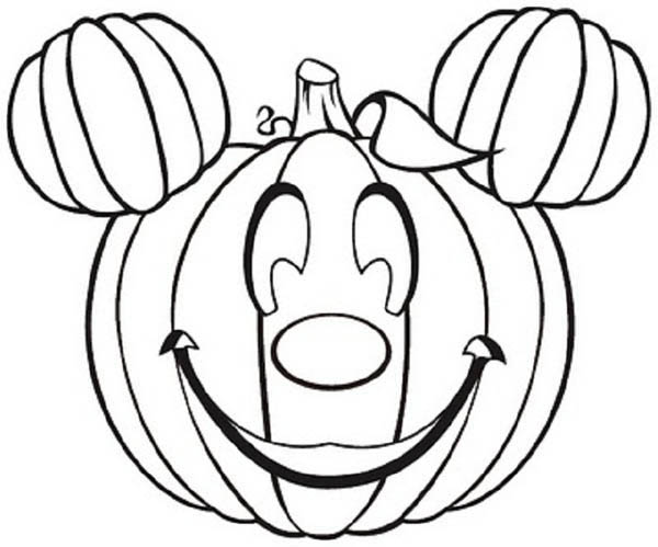 mickey mouse pumpkins coloring page kids play color