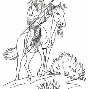 chief native american coloring page kids play color
