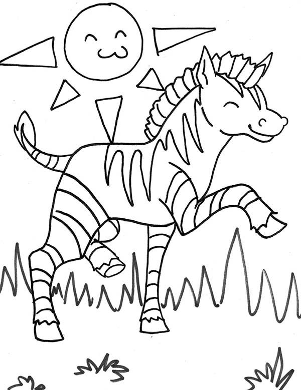 two zebra in savannas coloring page kids play color