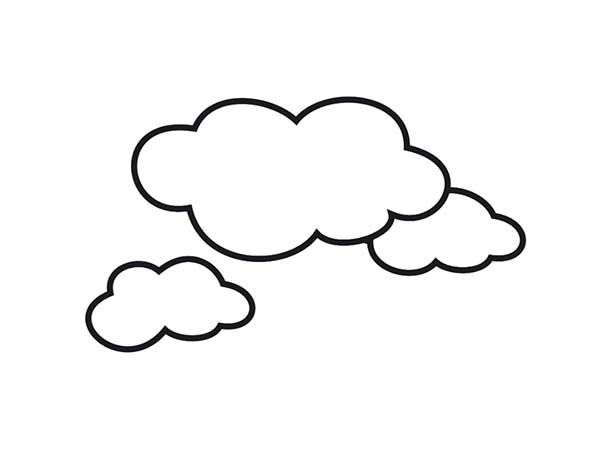 awesome shape of clouds coloring page kids play color