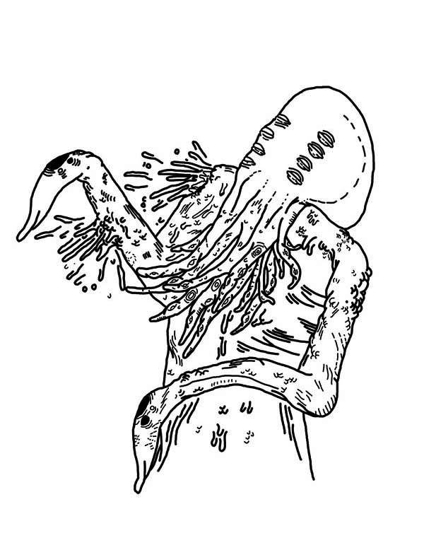 creepy monster coloring pages - photo#24