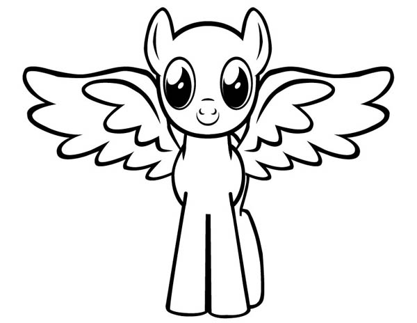 cute baby pegasus coloring page kids play color