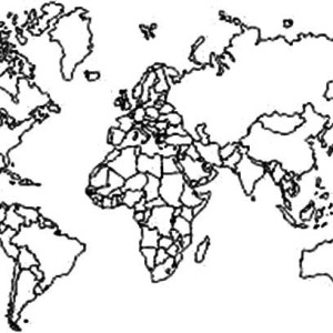 world map of all continents coloring page world map of all