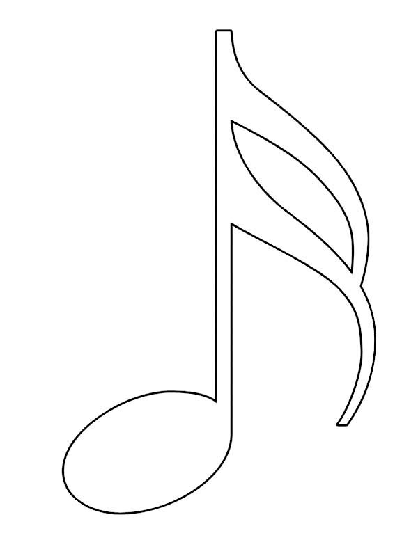sixteenth note in music notes coloring page kids play color