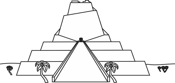 CN tower printable coloring page for kids | Coloring pages for ... | 287x600